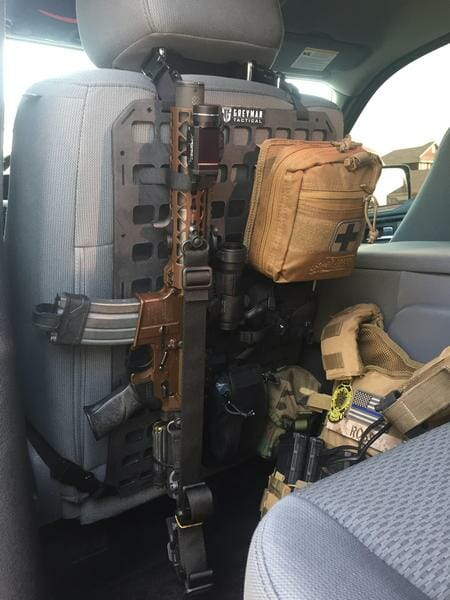ar15 truck rifle mount on back of seat