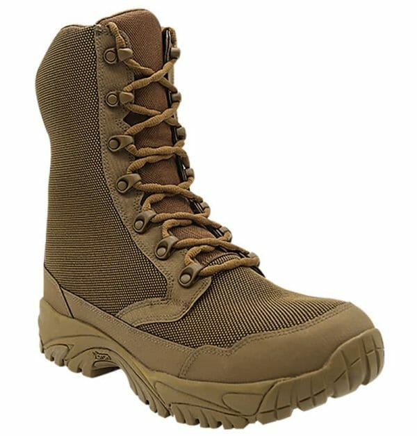 """Zip up hunting boots 8"""" brown outer toe Altai Gear"""