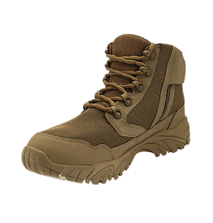 """Zip up hiking boots 6"""" Brown inner toe with zipper altai Gear"""