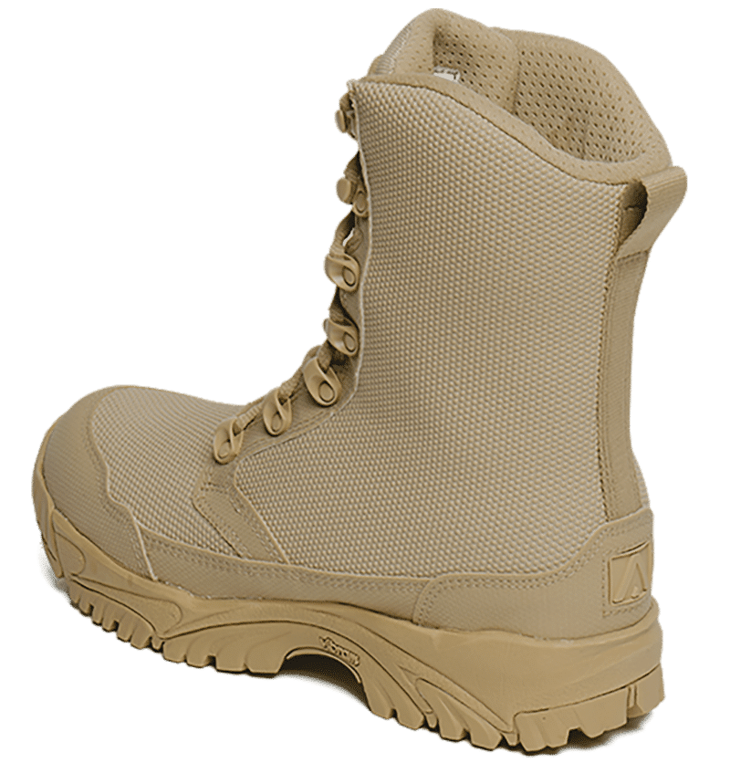 Tan Combat Boots Back Side view Altai gear