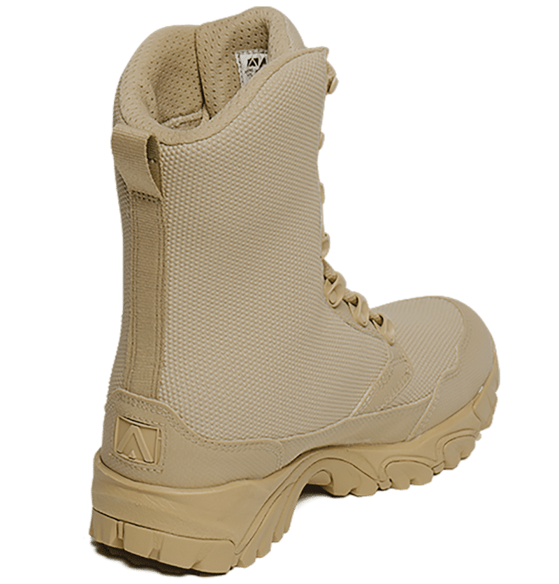Tan Combat Boot Back Outer view Altai gear