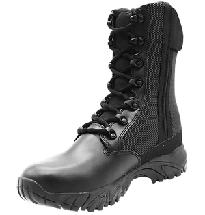 """Side Zip black tactical boots 8"""" inner leather toe with zipper altai Gear"""