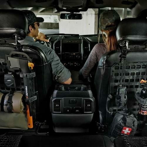 2 Rmp Tactical panels side by side in car