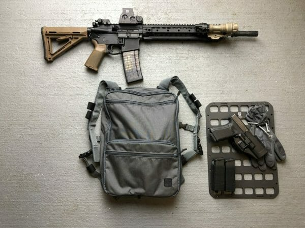 10 x 14 inches rmp molle panel for backpack pistol and mag edc