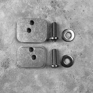 backer plates for handguard clam that mounts a rifle to the molle panel