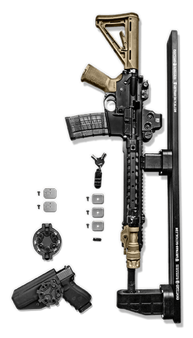 ar 15 Rifle-weapons Mounts for Molle panels